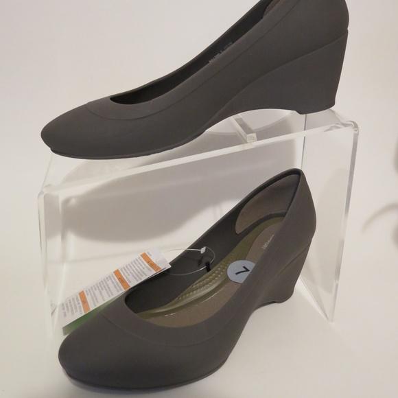 e8b6bae8e2 crocs Shoes | Lina Wedge Espresso Pump Womens Size Us 7 | Poshmark